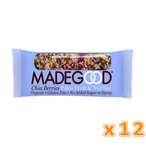 MADEGOOD Chia and Berries Raw Fruit & Nut Bar (12 bars) - Sanadeeg