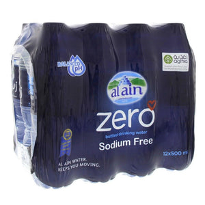 Al Ain Bottled Drinking Water Zero Sodium (24 x 500 ml) - Sanadeeg