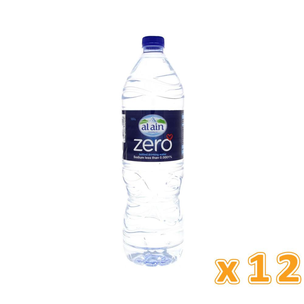 Al Ain Bottled Drinking Water Zero Sodium (12 x 1.5 L) - Sanadeeg