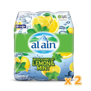 Al Ain Flavoured Water - Lemon & Mint (12 x 500 ml) - Sanadeeg