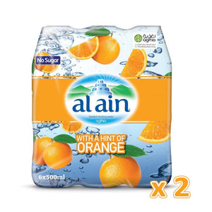 Al Ain Flavoured Water - Orange (12 x 500 ml) - Sanadeeg
