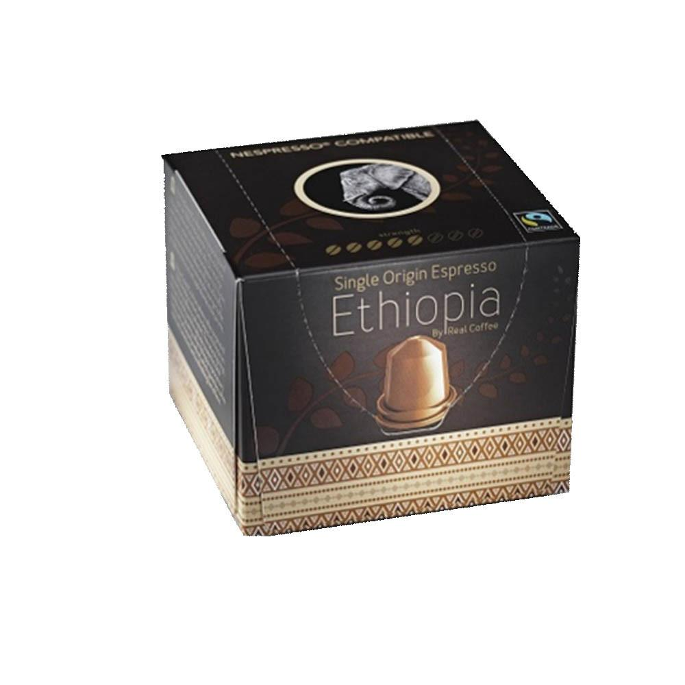 Real Coffee - Nespresso Compatible - Single Origin Espresso Ethiopia (10 capsules) - Sanadeeg