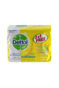 Dettol Fresh Anti-Bacterial Bars (3+1 X 165 gm) - Sanadeeg