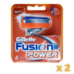 Gillette Fusion Power Cartridge (2 x 4 pack) - Sanadeeg