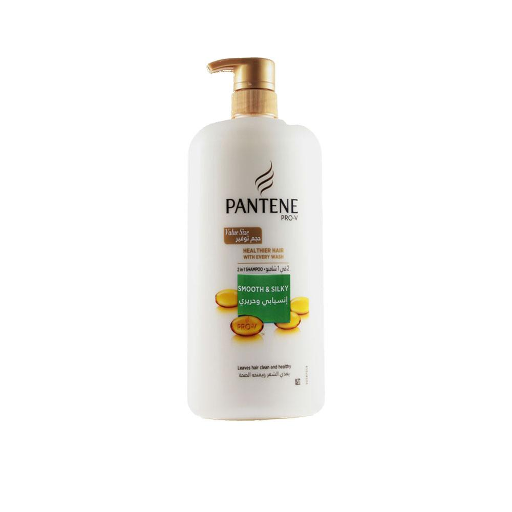 Pantene Smooth And Silky Shampoo (1 L) - Sanadeeg