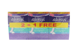 ALWAYS Regular Panty Liners 40s (2+1 X 40s packs) - Sanadeeg