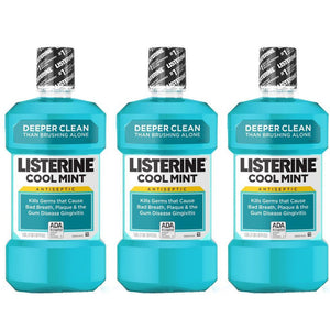 Listerine Cool Mint Mouthwash (3 X 500 ml) - Sanadeeg