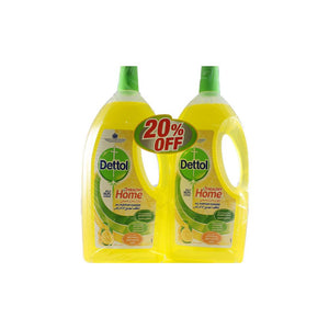 Dettol Healthy Home All Purpose Cleaner - Lemon (2 X 1.8 L) - Sanadeeg