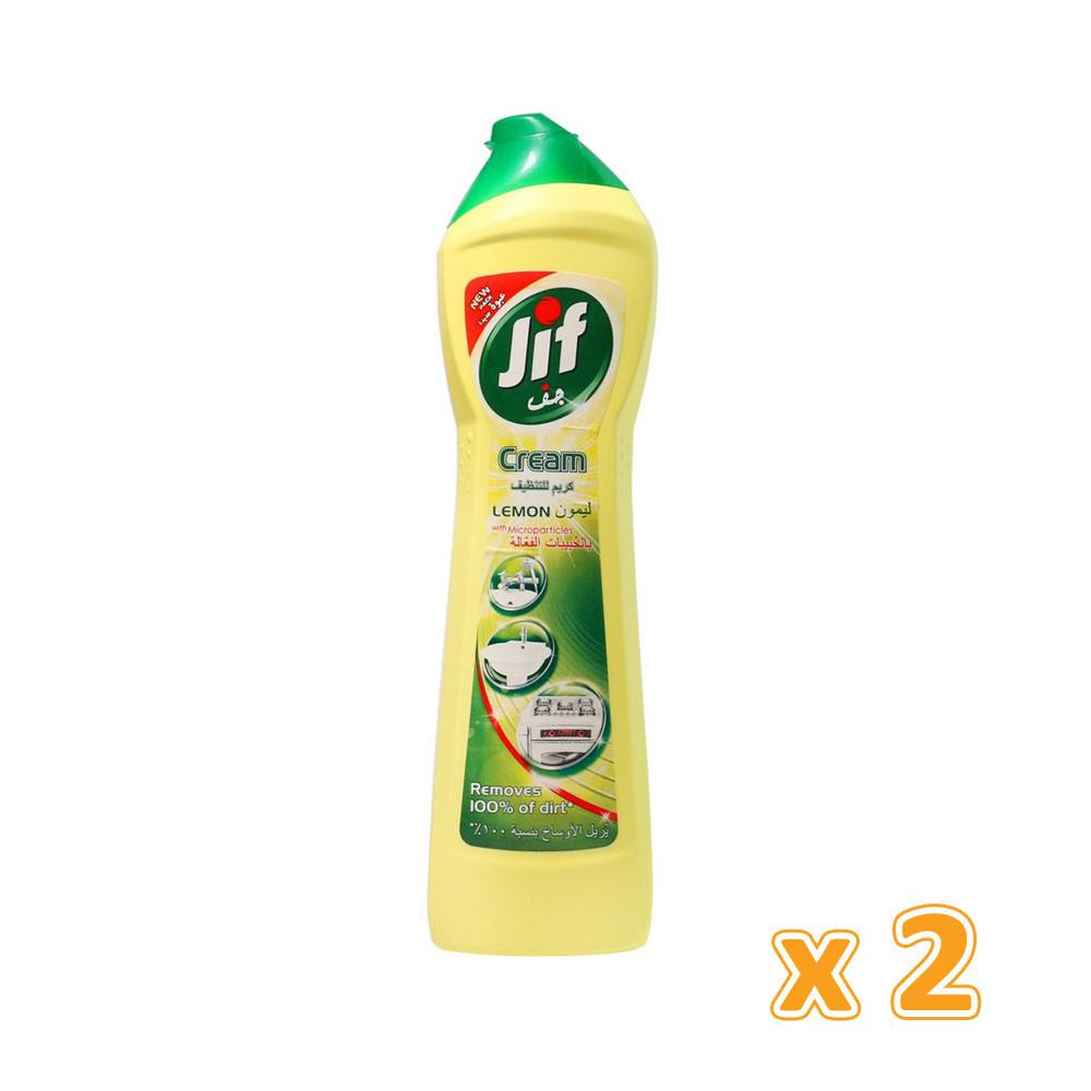 Jif Lemon Cream with Microparticles (2 X 500 ml) - Sanadeeg