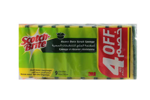 Scotch-Brite Heavy Duty Scrub Sponge (9 pack) - Sanadeeg