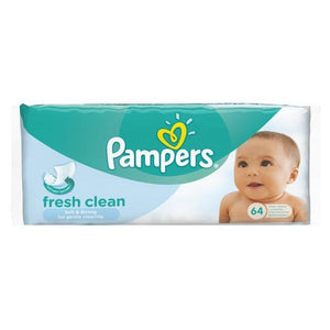 Pampers Fresh Clean Baby Wipes (12 x 64's) - Sanadeeg