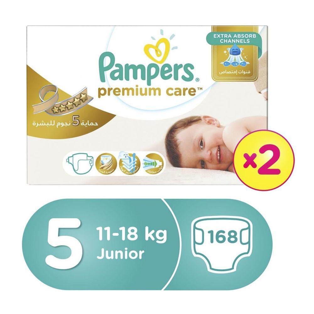 Pampers Premium Care Megabox Size 5 168 Diapers  (2X84) - Sanadeeg