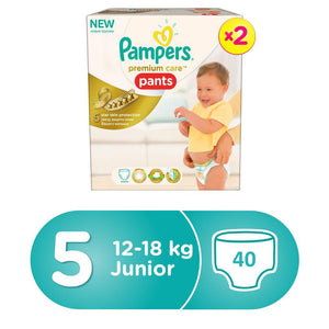 Pampers Premium Care Pants Diapers Size 5 (2X20) - Sanadeeg