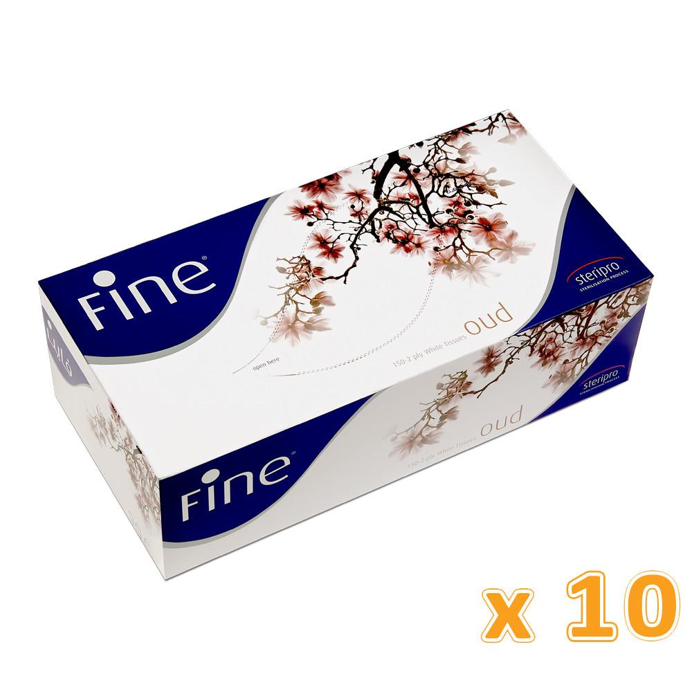 Fine  Facial Tissues - Oud  2 Ply (10 X 150 sheets) - Sanadeeg