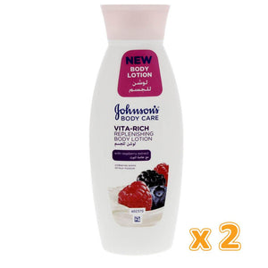 Johnson's Body Care Vita - Rich Revitalizing Body Lotion with Raspberry (2 x 250 ml) - Sanadeeg