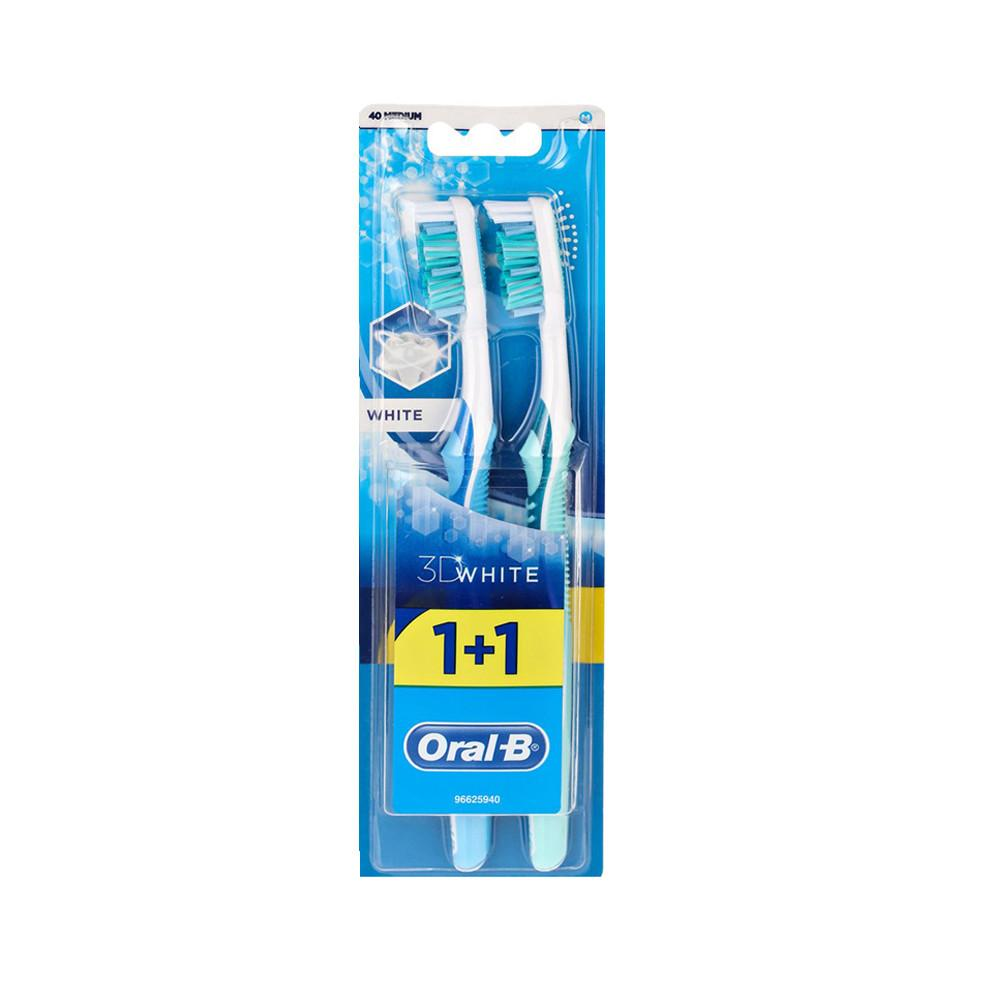 Oral B 3D White Toothbrush - Medium 40 (2 Brushes) - Sanadeeg