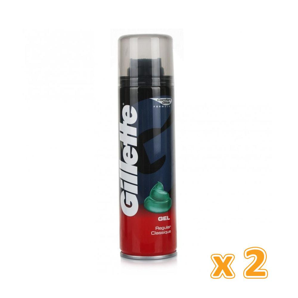 Gillette Regular Shaving Gel (2 x 250 ml) - Sanadeeg