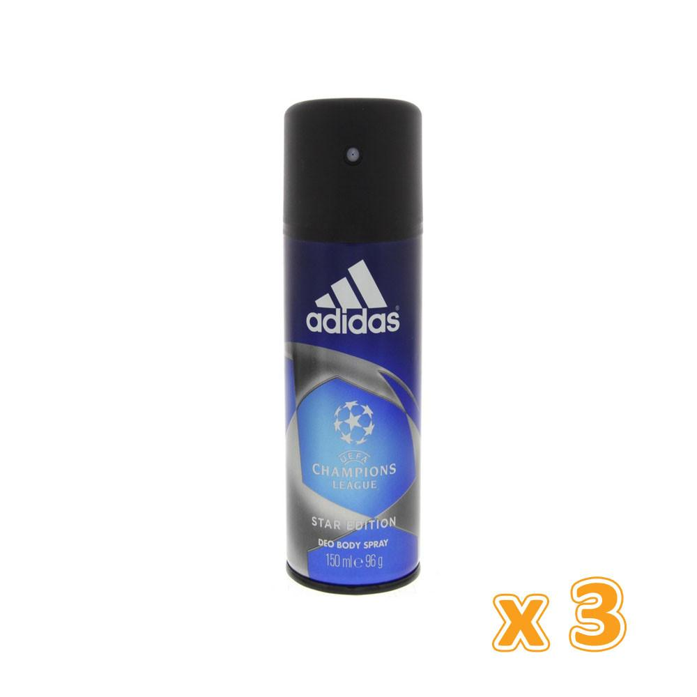 Adidas Champion League Star Edition Deodorant (3 x 150ML) - Sanadeeg