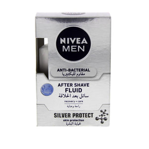 Nivea Silver Protect After Shave Fluid Men 100ML - Sanadeeg