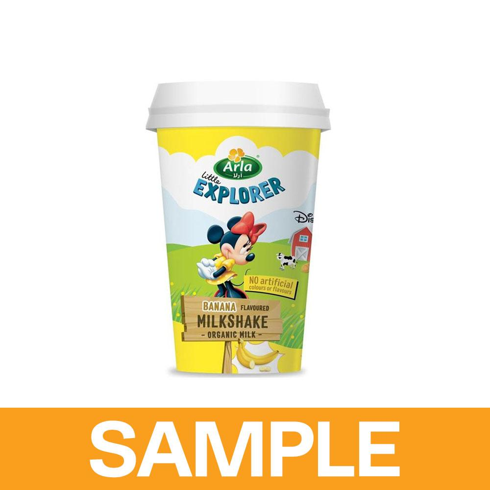 Arla Little Explorers Banana Low Fat Organic Milkshake (Free Sample) - Sanadeeg