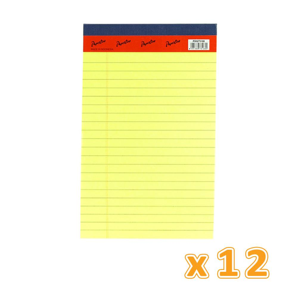 Writing Pad A4 Yellow 40 Sheets (1 X 12 Pcs) - Sanadeeg