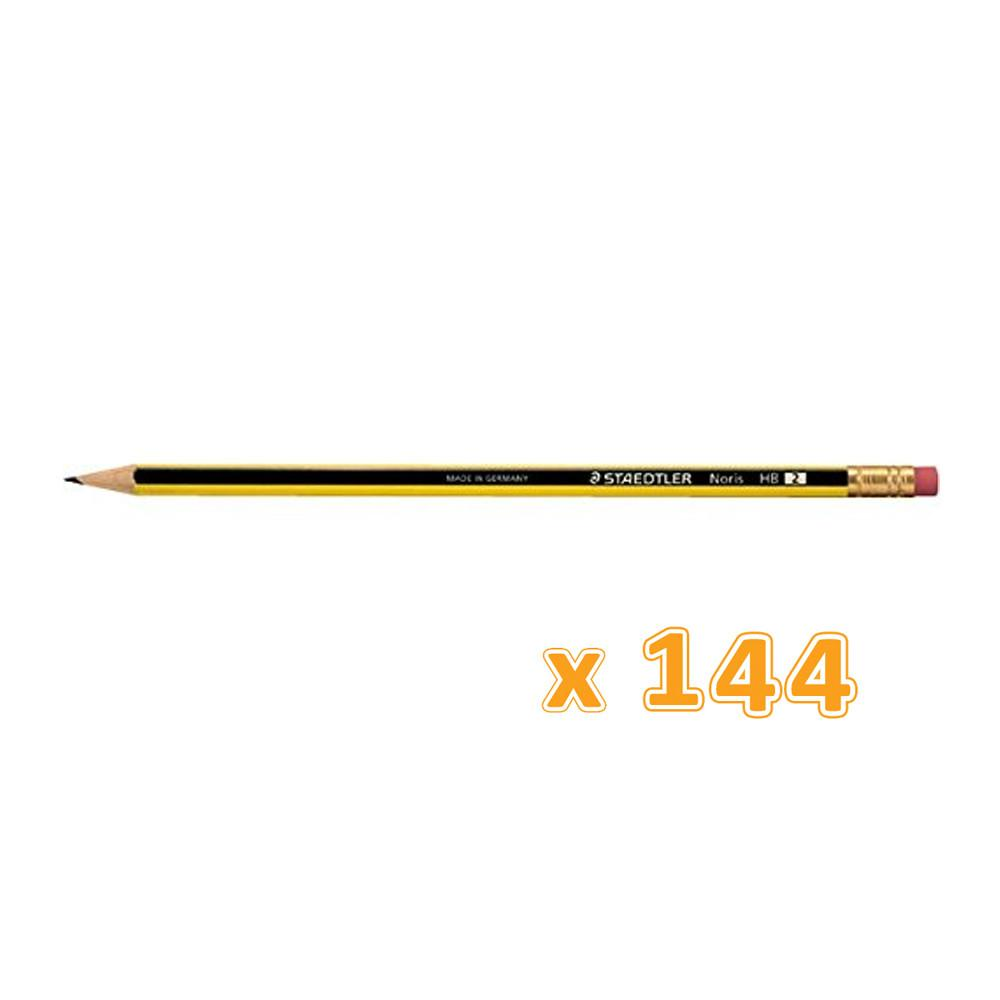 Staedtler Noris Pencil With Eraser 12 Box (144 Pencils) - Sanadeeg