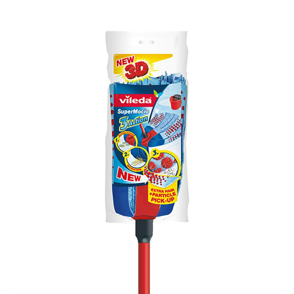 Vileda SuperMocio 3Action Mop with Handle (1 Pcs) - Sanadeeg