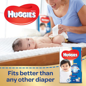 HUGGIES Diapers Jumbo Pack Size 5 (2 x 58 Diapers) - Sanadeeg