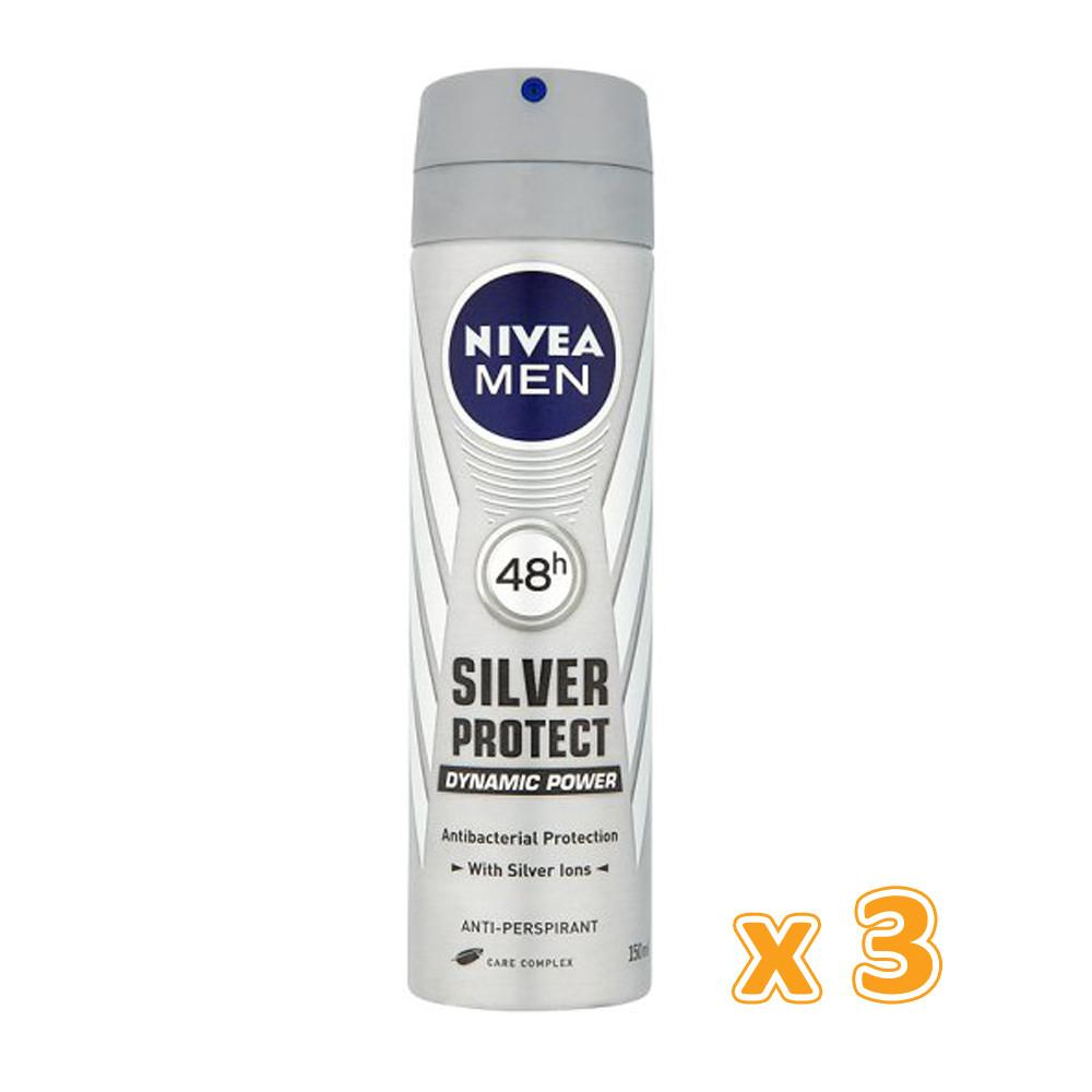 Nivea Silver Protect Deo Spray (3 x 150 ml) - Sanadeeg