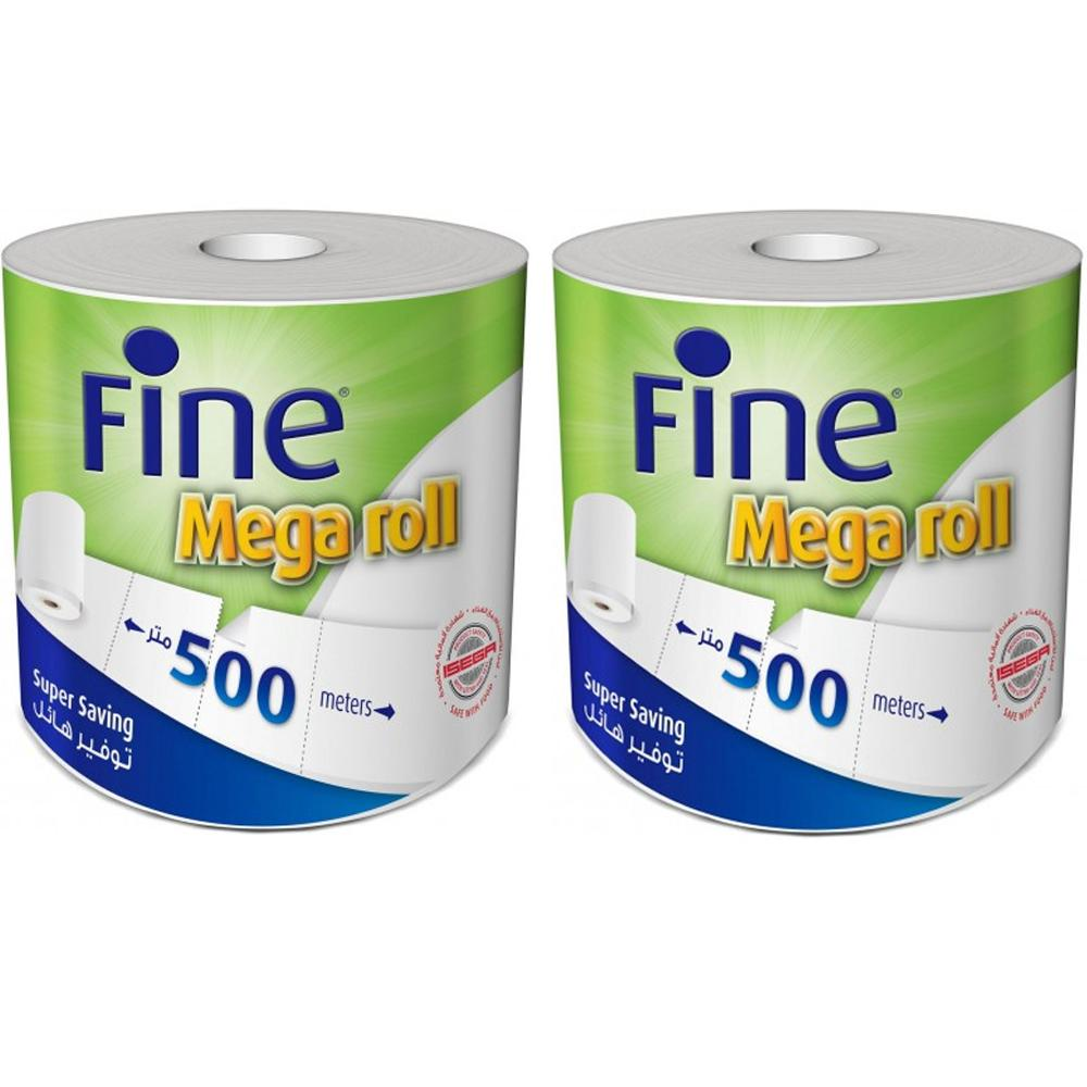 Fine Mega Roll Hand Towel Tissue 2 Ply (2 x 500 Sheets)