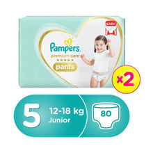 Pampers Premium Care Pants Diapers, Size 5, Junior, 12-18kg, Double Jumbo Pack (80 Count)