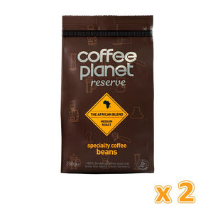 Coffee Planet Reserve African Blend Specialty Coffee Beans (2 x 250 gm)