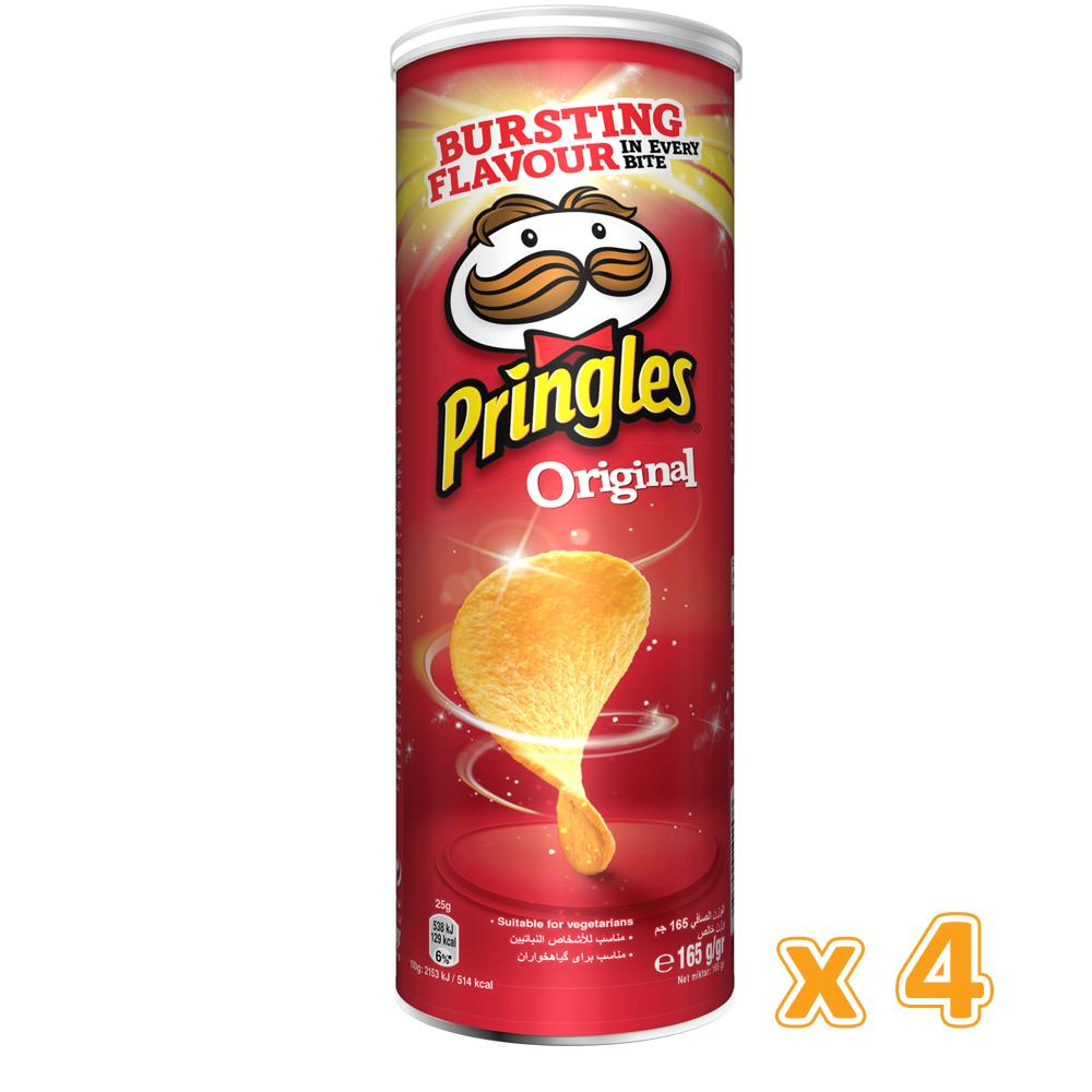Pringles Original Chips (4 x 165 Gm) - Sanadeeg
