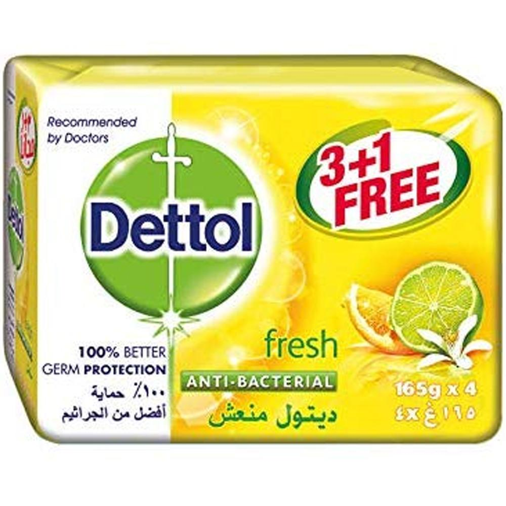 Dettol Fresh Anti-Bacterial Bars (4 X 165 gm)