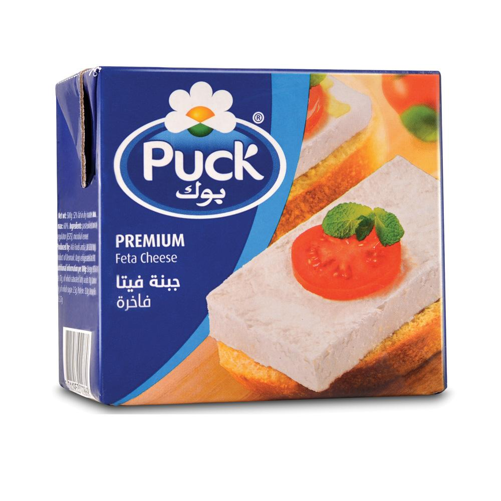 Puck Premium Feta Cheese Block (500 gm) - Sanadeeg