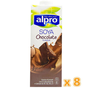 Alpro Soya Chocolate Milk Drink ( 8  x 1L) - Sanadeeg