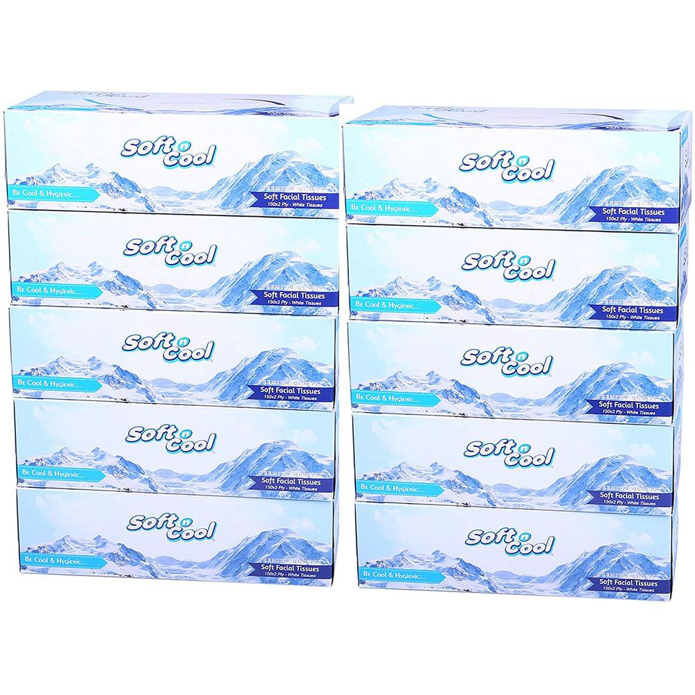 Soft n Cool Facial Tissue 2 Ply (10 x 150 Sheets)