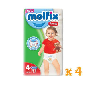 Molfix Anti Leakage Comfortable Maxi Baby Diapers Size 4 (4 x 52)