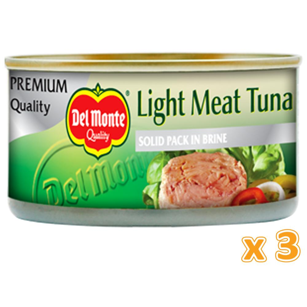 Del Monte Light Meat Tuna In Brine (3 X 185 Gm) - Sanadeeg