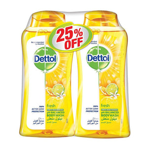 Dettol Fresh Antibacterial Bodywash (2 X 250 ml)