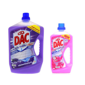 DAC Super Disinfection Lavender and Rose Multi-Purpose Cleaner (3 + 1 L) - Sanadeeg