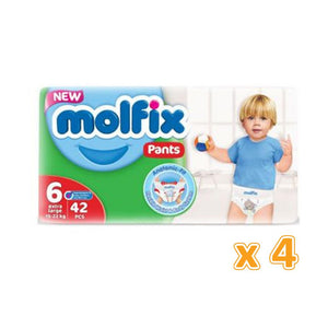 Molfix Anti Leakage Comfortable Extra Large Baby Diaper Pants Size 6 (4 x 42)