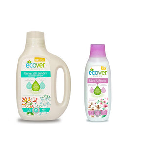 Ecover Univeral Laundry Liquid (850 ml) + Ecover Fabric Softener Apple Blossom & Almond (750 ml)