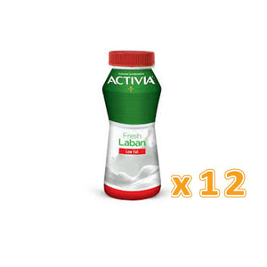 Activia Laban Low Fat (12 x 180 ml)