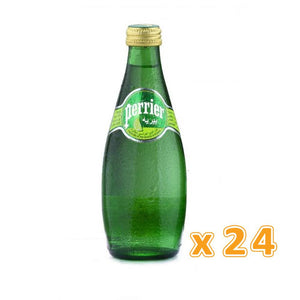 Perrier Natural Sparkling Water Lime Glass Bottle  (24 x 330 ML) - Sanadeeg