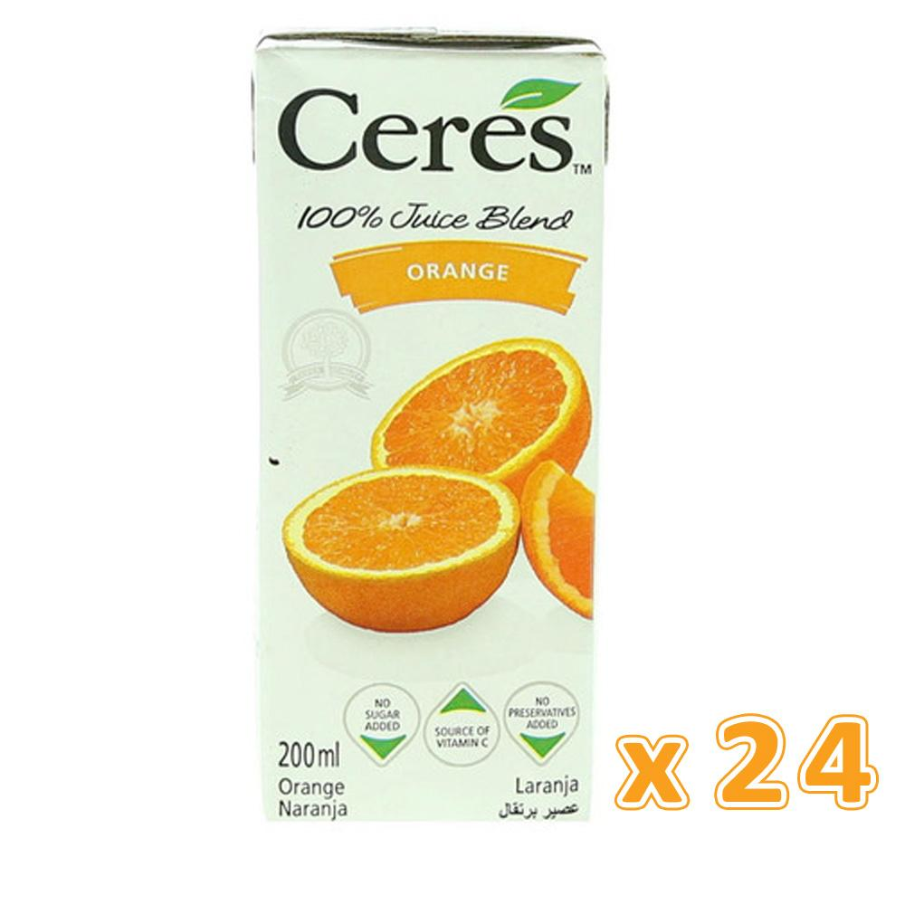 Ceres 100% Orange Juice (24 X 200 ML) - Sanadeeg
