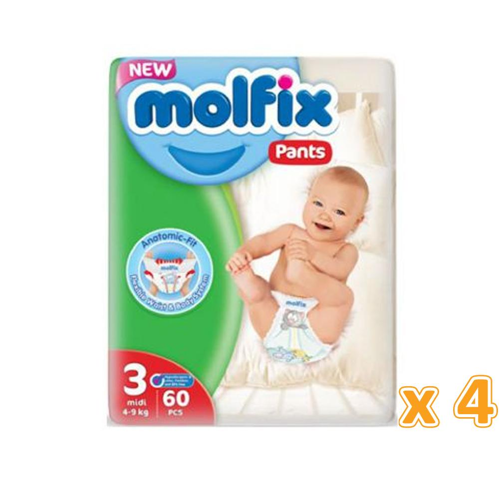 Molfix Anti Leakage Comfortable Maxi Baby Diapers Size 3 (4 x 60)