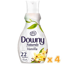 Downy Naturals Concentrate Fabric Softener Vanilla Scent (4 x 880 ml)