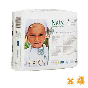 NATY BY NATURE NAPPIES Diapers 4  7-18 KG (4 x 27 Pcs)