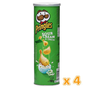 Pringles Sour & Onion Chips (4 x 165 Gm) - Sanadeeg